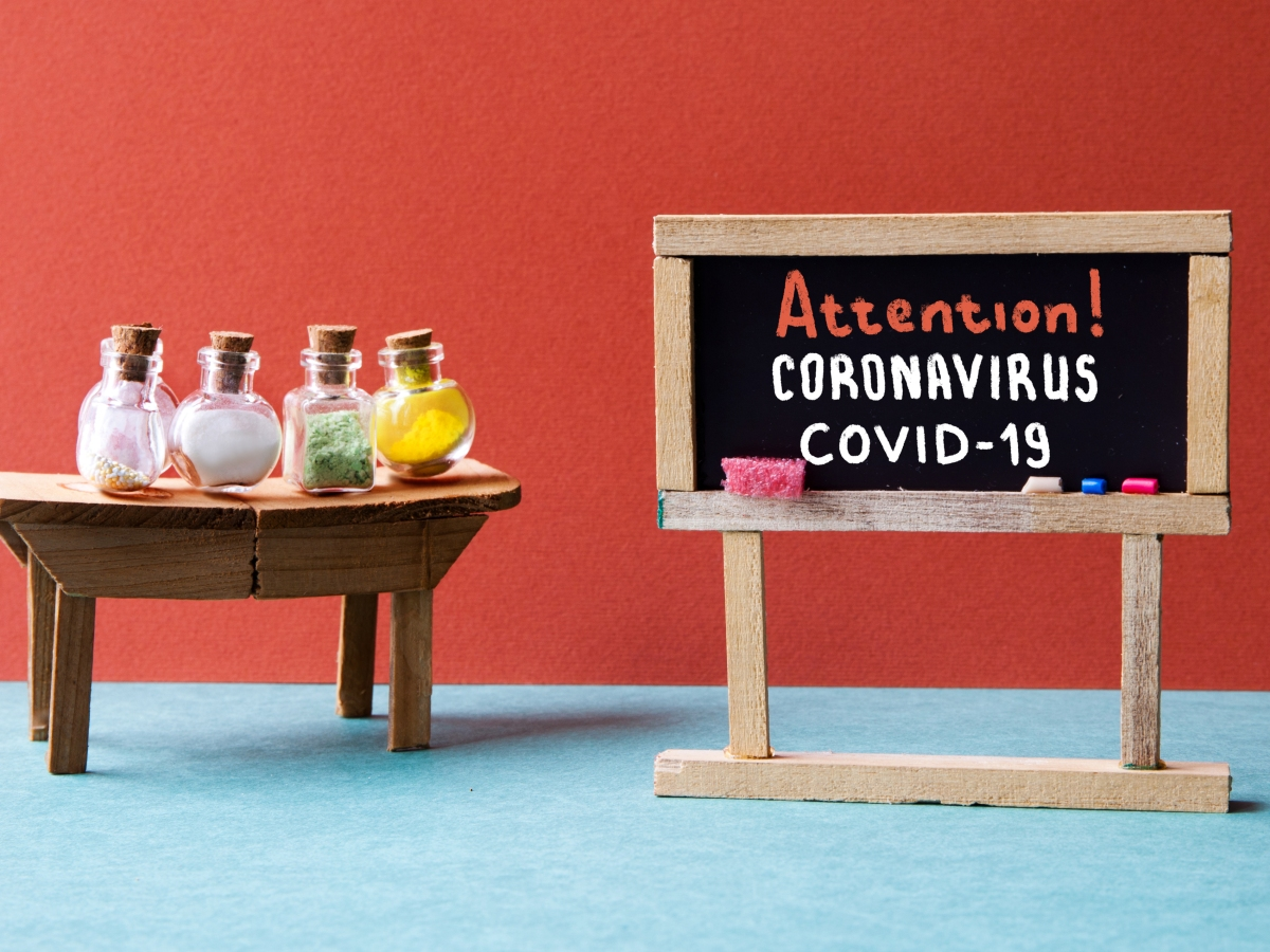 Attention Food and Coronavirus COVID-19 Cuisine Canvas