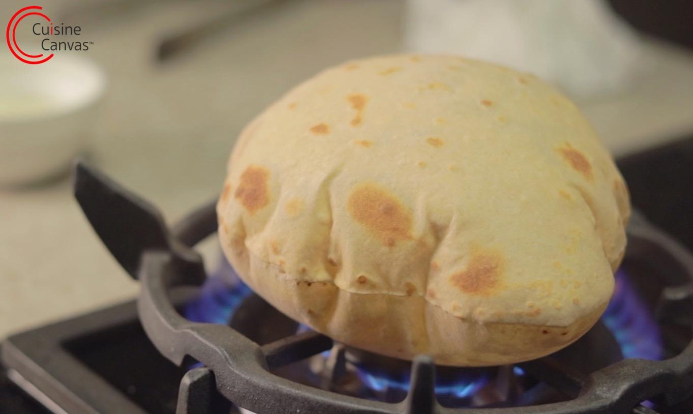 Phulka Roti Chapati Indian Flatbread Cuisine Canvas