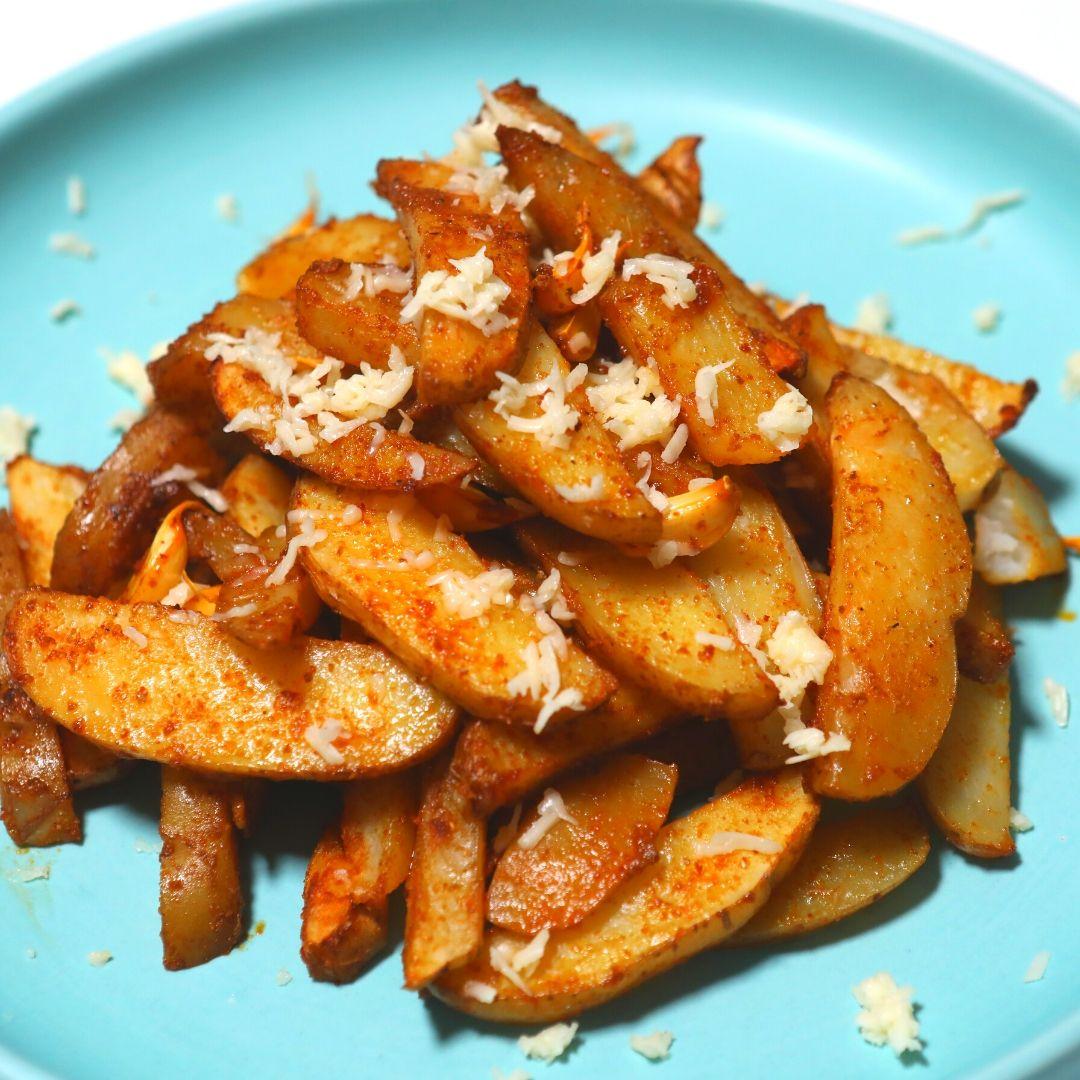 Potato (Wedges) Masala Bake
